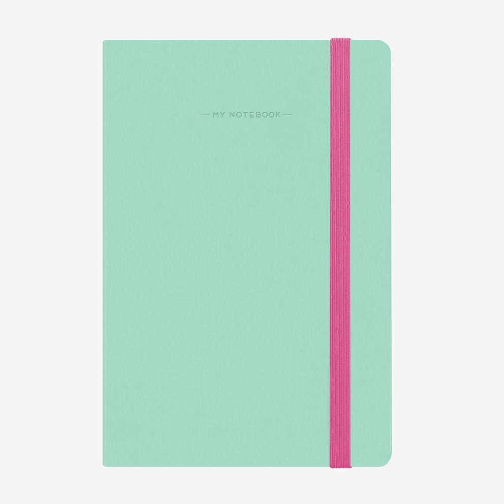 Medium Lined Aqua Notebook