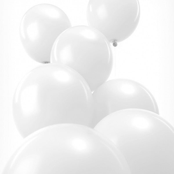 White Pack of 12 Balloons