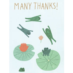 Many Thanks Frogs Card