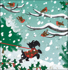 Snow Scottie Advent Card