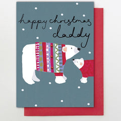 Daddy Big & Little Polar Bear Card