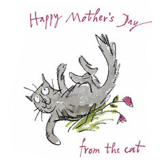 Quentin Blake Happy Mother's Day from the Cat Card