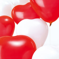 Red Hearts Pack of 12 Balloons