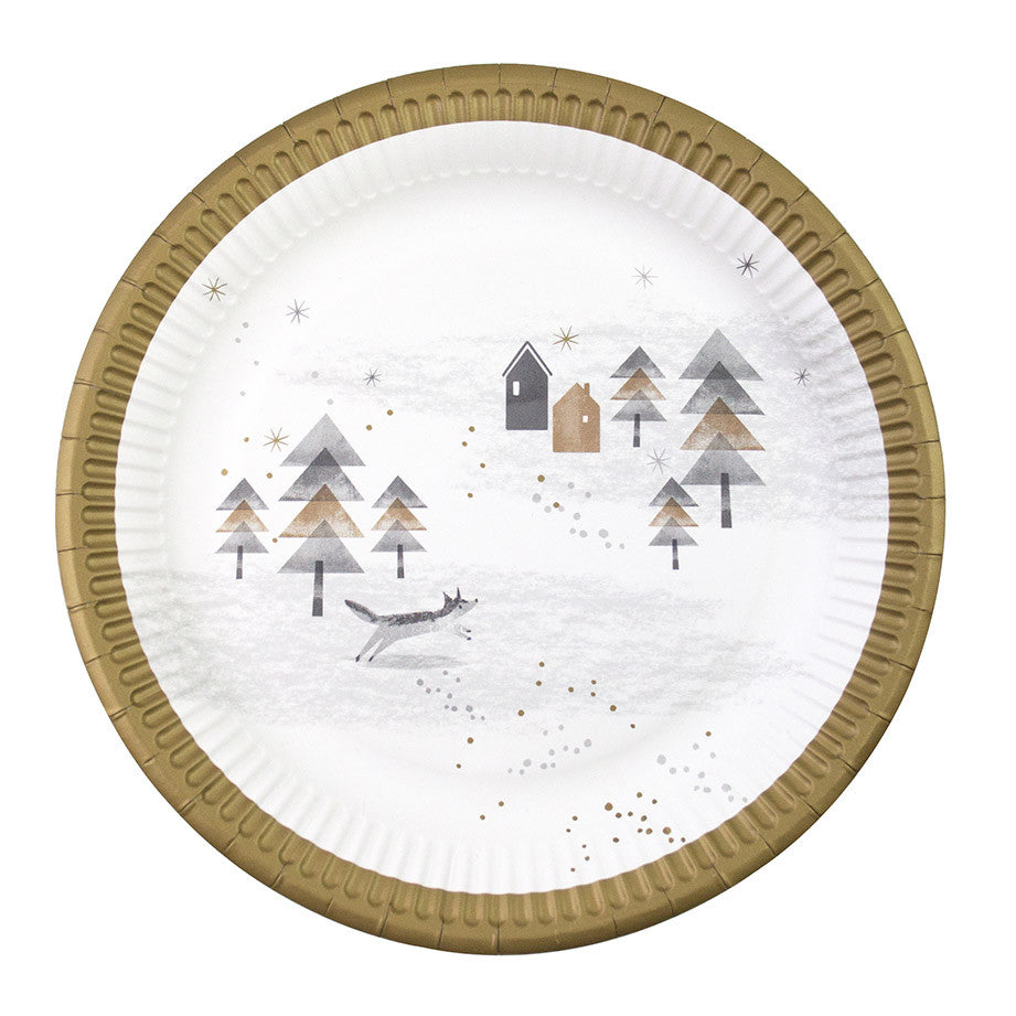 Paper Plates-Nordic Christmas Pack of 8