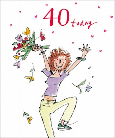 Wonderful Quentin Blake 40th Birthday Card