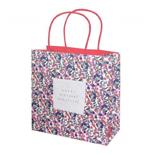 Happy Birthday Beautiful Summer Fruits Medium Gift Bag