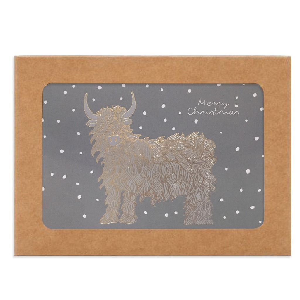 Highland Cow Box of Christmas Cards - Paper Tiger