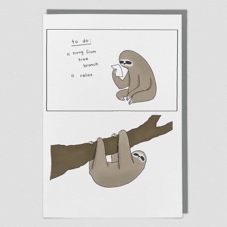 Sloth To Do List Card