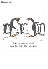 Penguin Hunt Christmas Card