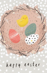 Easter Chick with Eggs Pack of 6 Cards