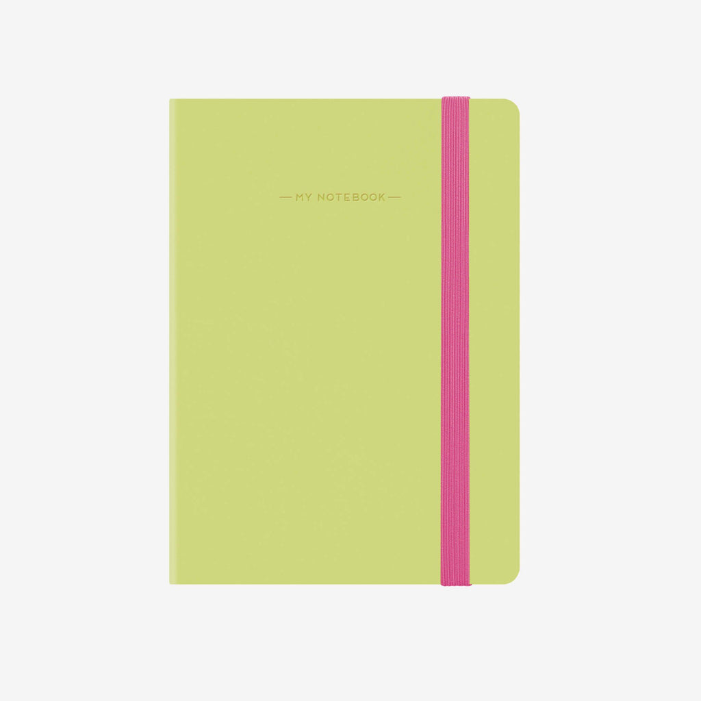 Small Lime Green Squared Notebook