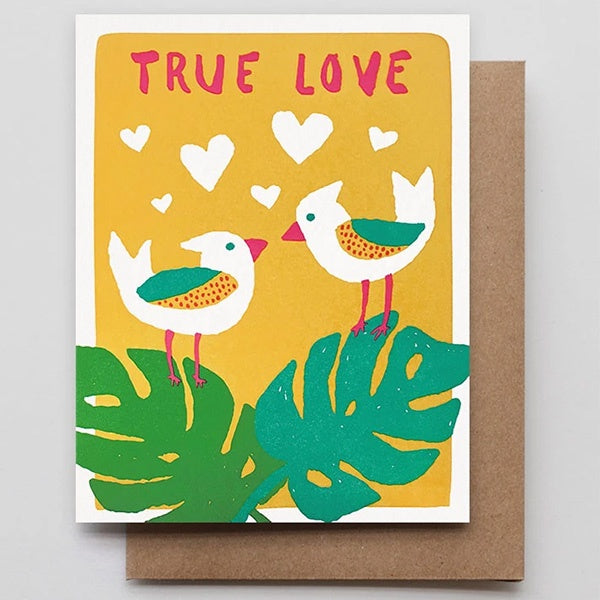True Love Tropical Birds Card