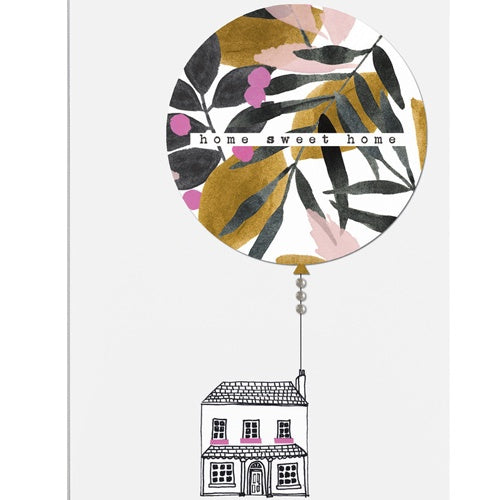 Home Sweet Home Balloon House Card