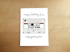 Happy Birthday To An Endangered Species Card