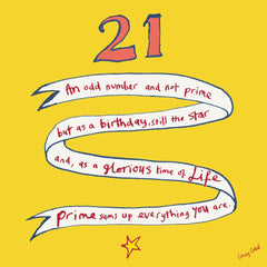 21st Birthday Banner Card