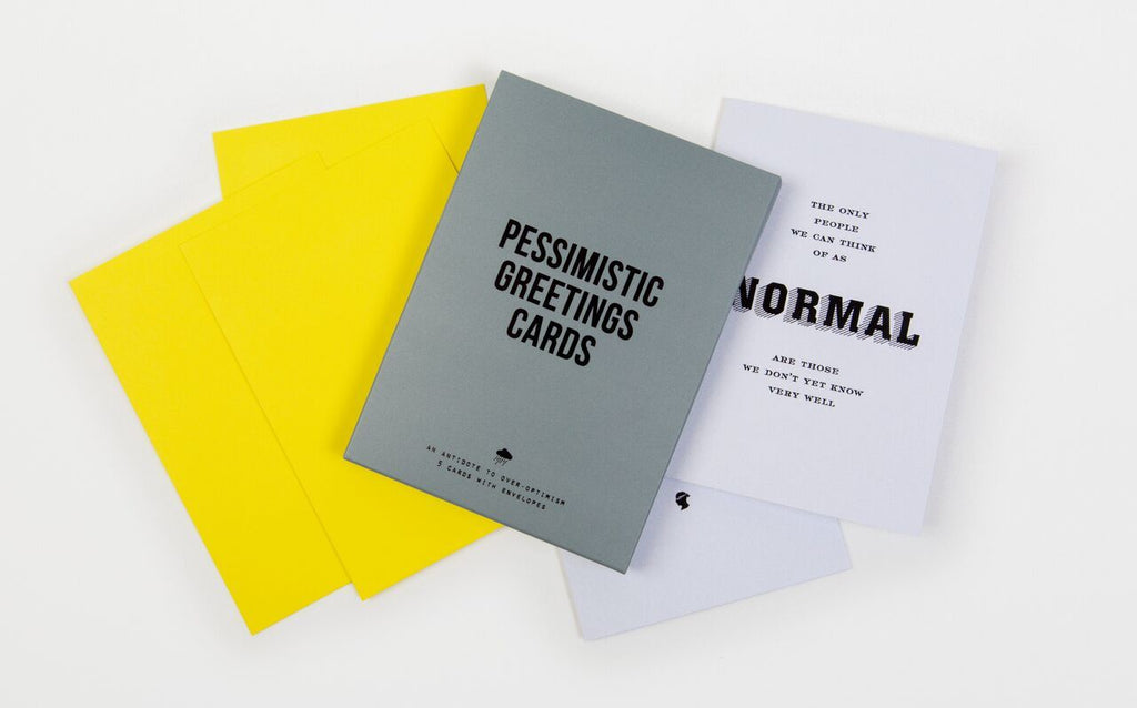 Pessimistic Greetings Cards Pack of 5