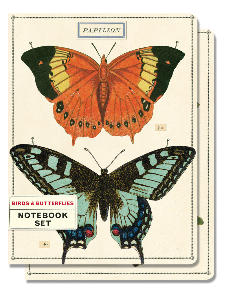 Birds and Butterflies Notebook Set