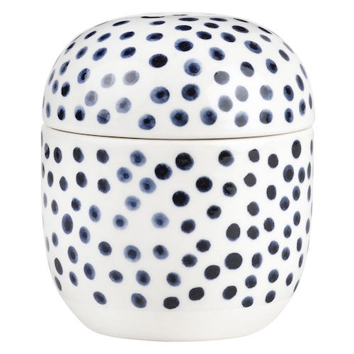 Dotted Ink Blue Jar