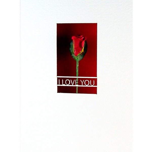Rose Lasercut I Love You Anniversary Card
