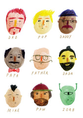 Faces Father's Day Card