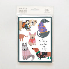 A Little Note To Say Dogs Pack of 6 Cards