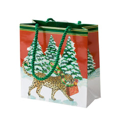 Christmas Leopards Small Gift Bag