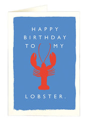 Happy Birthday To My Lobster Card