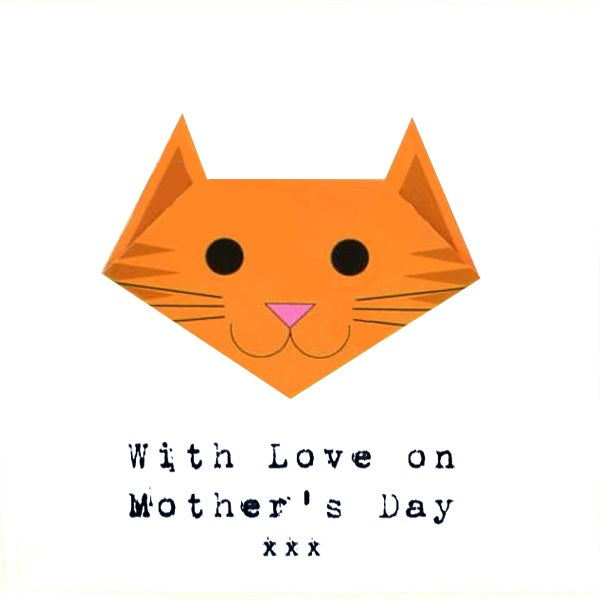 Mothers Day Card- Ginger Cat With Love