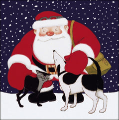 Father Christmas with Pets Charity Pack of 5 Cards