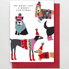 Christmas Jumper Doggies Card