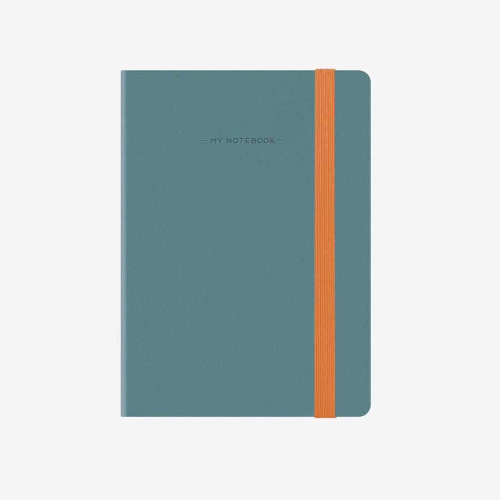 Large Lined Blue Grey Notebook