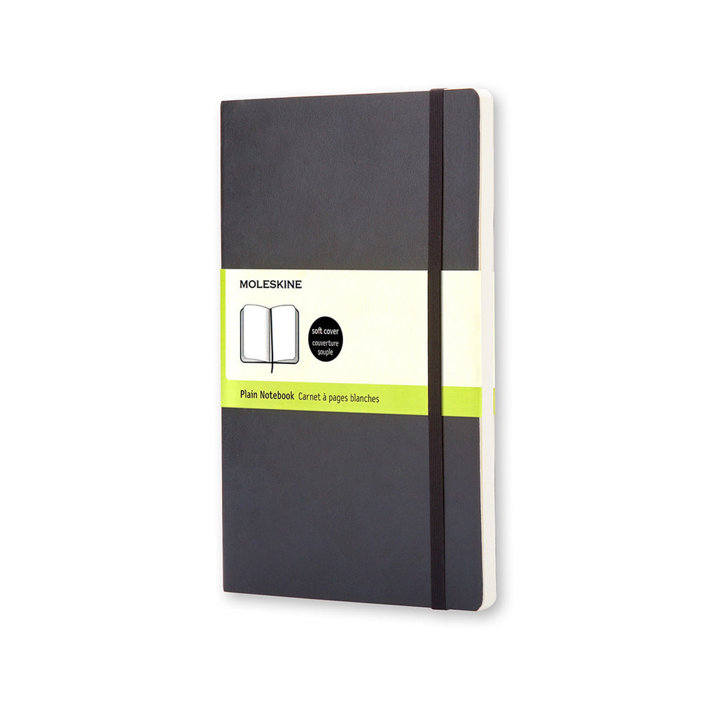 Moleskine Pocket Plain Soft Cover Notebook Black