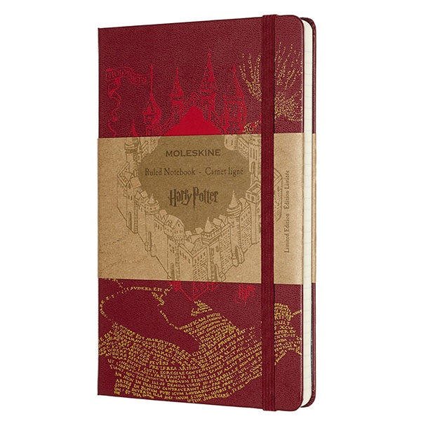 Moleskine Limited Edition Harry Potter Marauder's Map Ruled Notebook
