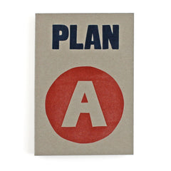 Plan A Letterpress Lined Notebook
