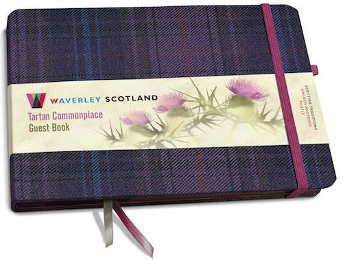 Tartan Cloth Guest Book - Kinloch Anderson Thistle