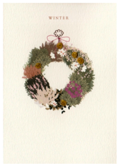 Winter Alpine Garland Card