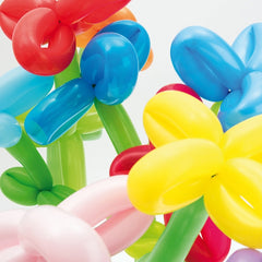 Multicolour Mix Pack of 12 Long Balloons