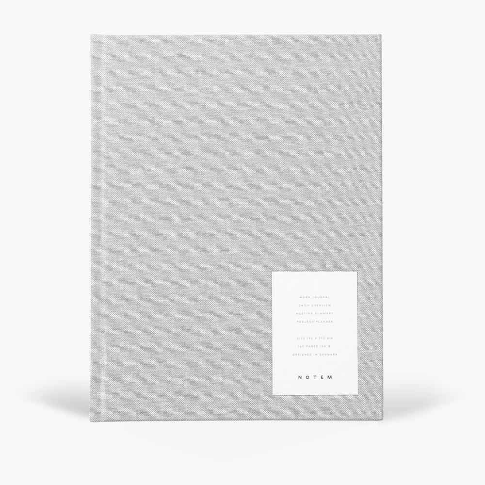 Even Work Journal Large Light Gray Cloth by Notem
