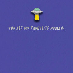 Favourite Human Enamel Pin Badge Card