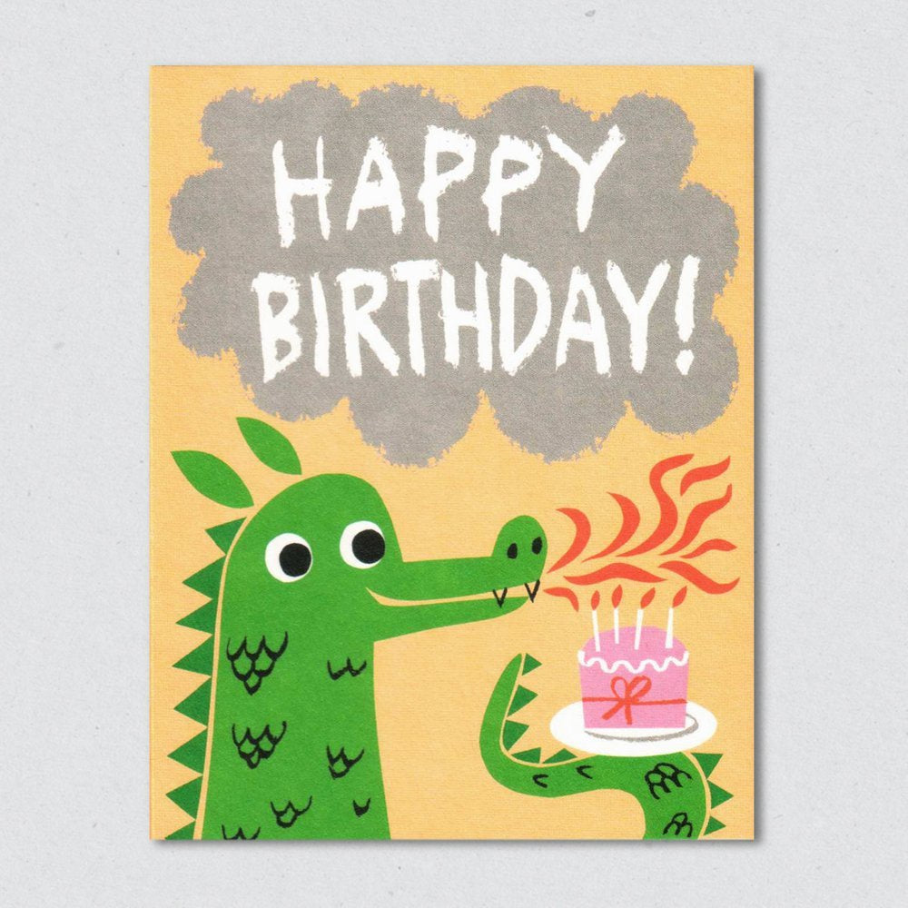 Dragons Breath Happy Birthday Card