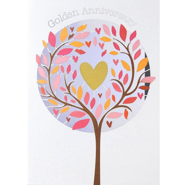 Golden Anniversary - Lasercut Heart in a Tree
