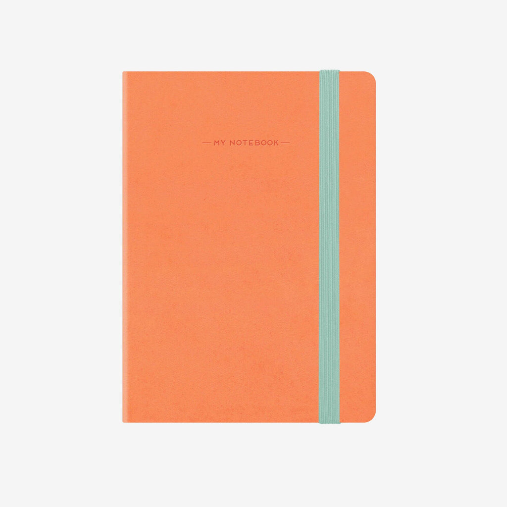 Large Squared Salmon Notebook