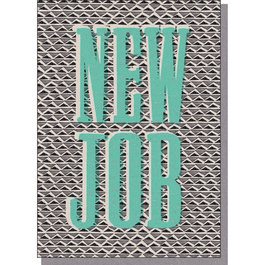 New Job Card - Green Lettering