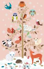 Critter Tree Christmas Card Pack of 8