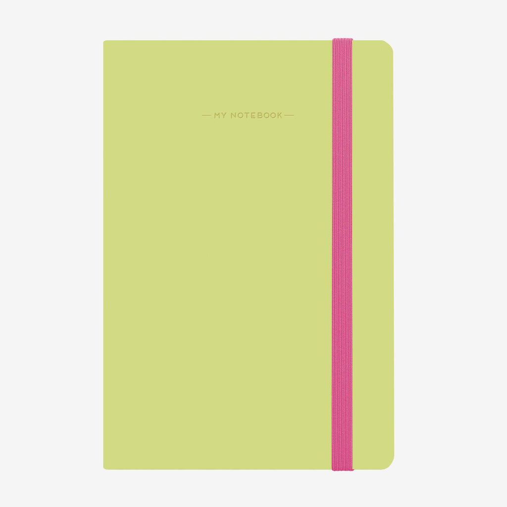 Medium Lime Green Squared Notebook