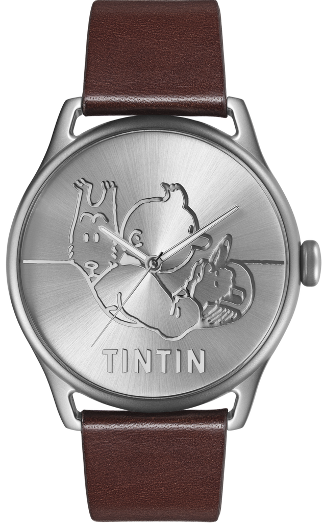 Tintin Watch - Classic Car - Stainless Steel and Brown