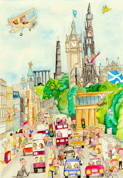 Gingerpaws at Princes Street Card