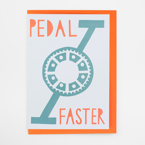 Pedal Faster Card