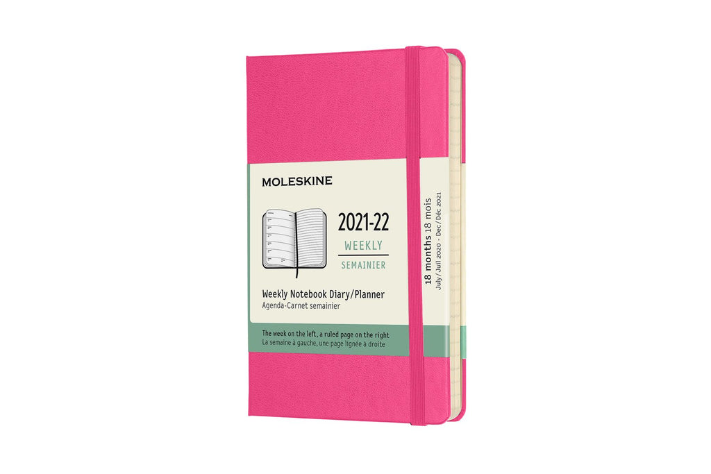 2021-22 Weekly Planner Pocket Hardcover Pink
