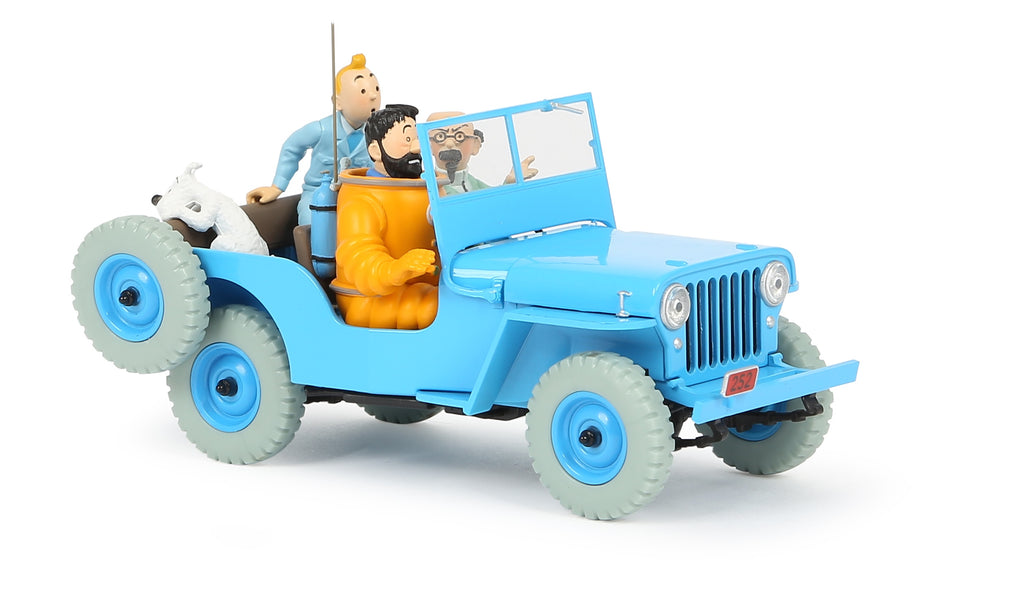 Tintin 1/24th Scale Blue Willys CJ2A From Destination Moon